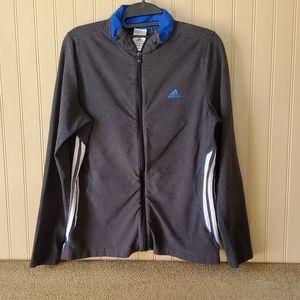 Adidas jacket size medium large gray blue …